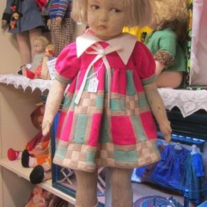 Lenci Doll with pieced squares in dress