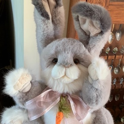 Morpeth Teddy bears Charlie bear plush Hunter Valley Cabbage Rose rabbit