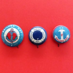 Australian Sailor's Day Badge Trio