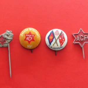 Australian Comforts Fund Badge Set