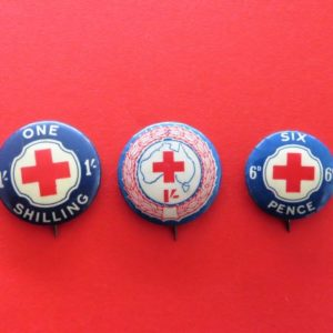 Australian Red Cross Badge Trio
