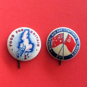 morpeth antique centre hunter valley australian world war one two badge pin tinnie allies russia comfort fund red cross soldier legacy ANZAC