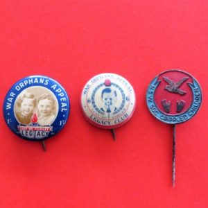 Australian War Orphans Badge Trio