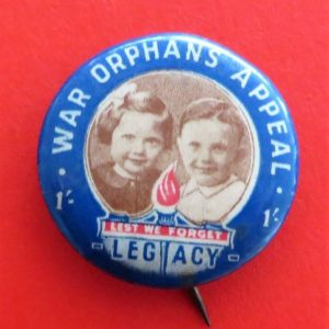 War Orphans Badge