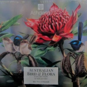 Jigsaw Blue Wrens & Waratah – by Natalie Jane Parker