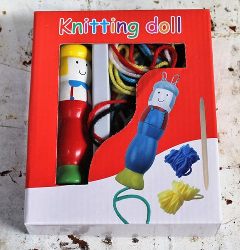 morpeth gift gallery hunter valley knitting doll boy girl wooden fun educational play learn to knit kit
