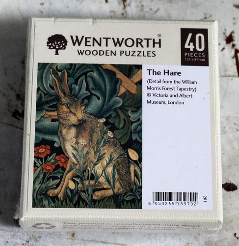 the hare william morris tapestry morpeth gift gallery hunter valley wentworth wooden jig saw puzzle timber master great painters artist made in great britain