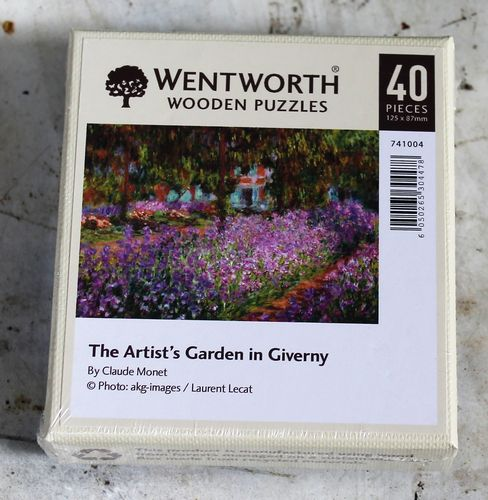 the artists garden in giverny claude monet morpeth gift gallery hunter valley wentworth wooden jig saw puzzle timber master great painters artist made in great britain