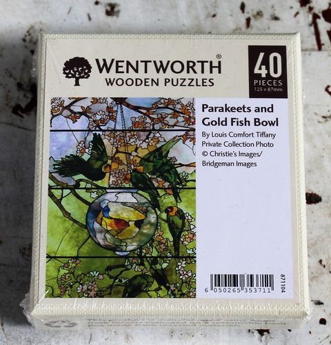 parakeets gold fish bowl morpeth gift gallery hunter valley wentworth wooden jig saw puzzle timber master great painters artist made in great britain