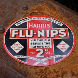 Harris' Flu-Nips Promotional Card