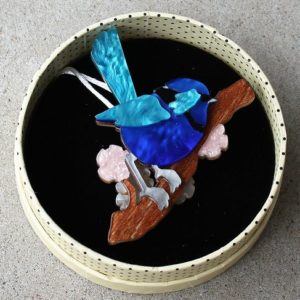 Erstwilder Brooch – Phoebe the Fairy Wren
