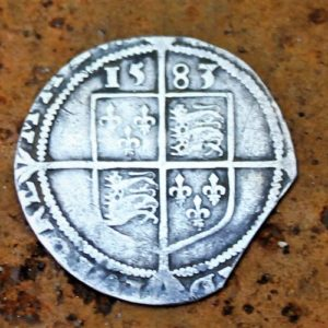 Coin from Reign of Elizabeth I