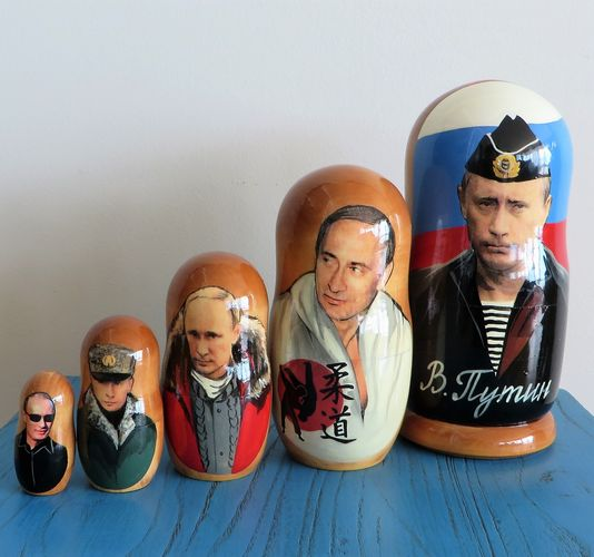morpeth gift gallery hunter valley matryoshka dolls babushka nesting russian made set five ten hand president putin vladimir painted mother's day