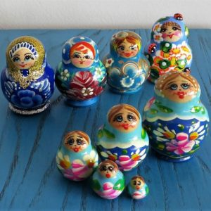 Matryoshka Doll – Blue Tones
