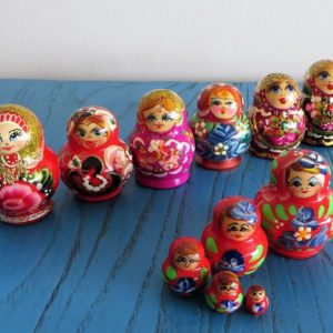 Matryoshka Doll – Red, Pink, Purple Tones