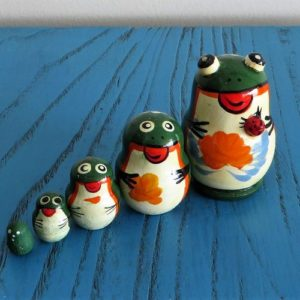 morpeth gift gallery hunter valley matryoshka dolls babushka nesting russian made set five ten hand painted mother's day frog