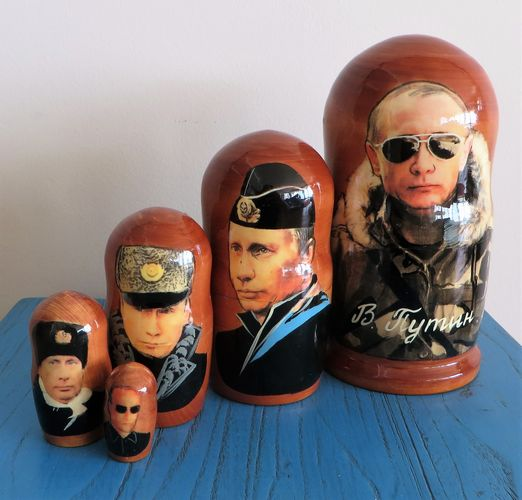 morpeth gift gallery hunter valley matryoshka dolls babushka nesting russian made set five ten hand president putin painted mother's day