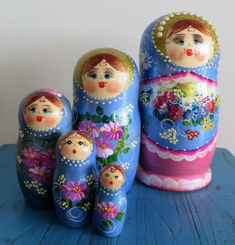 morpeth gift gallery hunter valley matroyshka dolls babushka nesting russian made set five ten hand painted mother's day