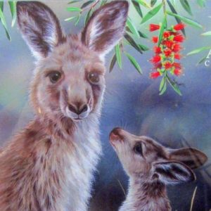 Jigsaw Kangaroo & Joey Puzzle – by Natalie Jane Parker