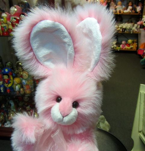 Easter Morpeth Teddy bears charlie bears hunter valley plush rabbit Pear drop pink