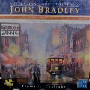 Trams in Gaslight Jigsaw – by John Bradley