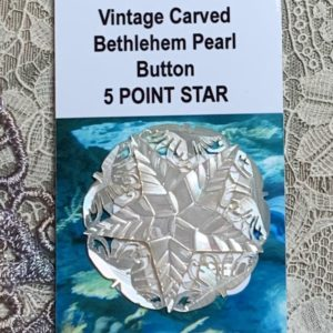 Bethlehem Carved Pearl Vintage Button – 5 point star