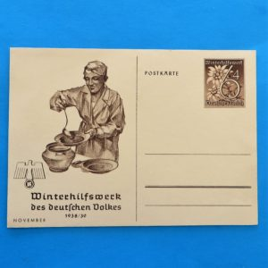 German Charity Relief Postcard – November