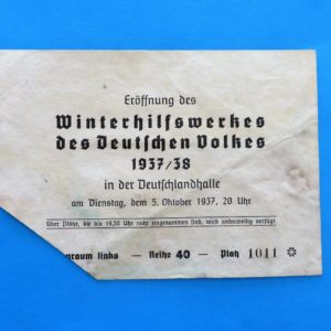 morpeth antique centre hunter valley third reich german world war two winter charity relief badge pin baltic amber shi 1937 1938 season ticket propaganda WHW