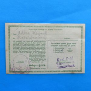 WWII German Donation Certificate