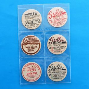 Gribler Dairy Milk Bottle Cap Set