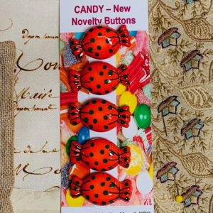 Candy Buttons x 5 red
