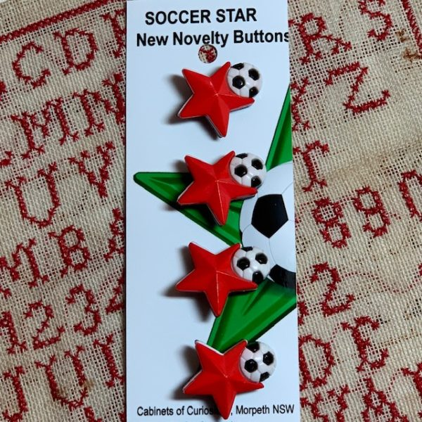 morpeth antique centre hunter valley Cabinets of Curiosities buttons new soccer stars