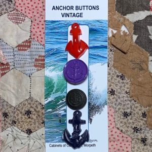 Novelty Vintage Anchor Buttons x 4