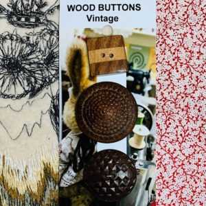 Wood Buttons – Vintage x 3