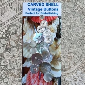 Cluster Shell Vintage Buttons – (codeW5)