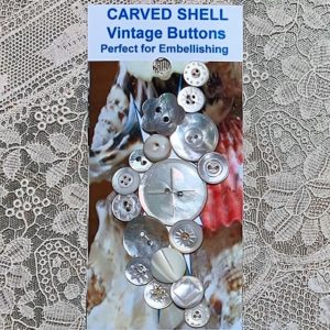 Cluster Vintage Shell Buttons – (codeW4)