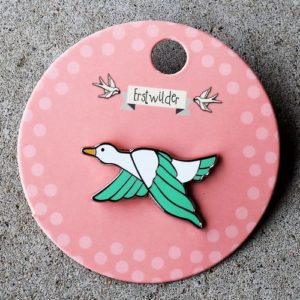 Erstwilder Pin – Dancing Duck Green