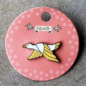 Erstwilder Pin – Dancing Duck Yellow