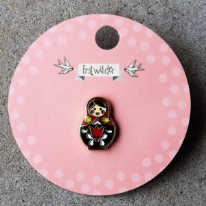 Erstwilder Pin – Matryoshka Memories – Small Red