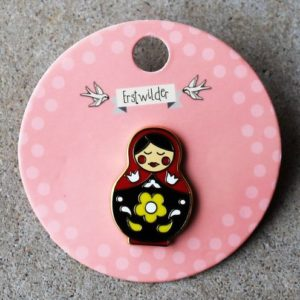 Erstwilder Pin – Matryoshka Memories – Medium Red