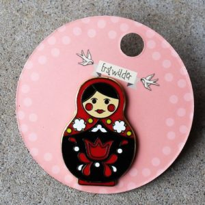 Erstwilder Pin – Matryoshka Memories – Large Red