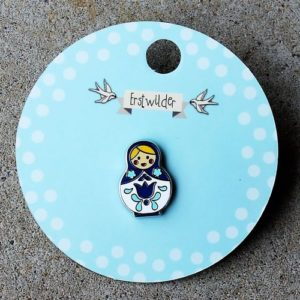 Erstwilder Pin – Matryoshka Memories – Blue Small