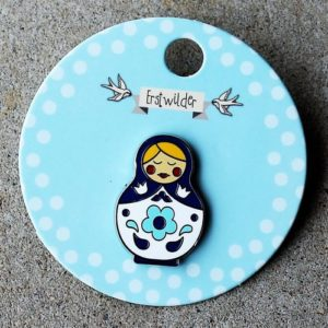 Erstwilder Pin – Matryoshka Memories – Medium Blue