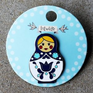 Erstwilder Pin – Matryoshka Memories – Large Blue