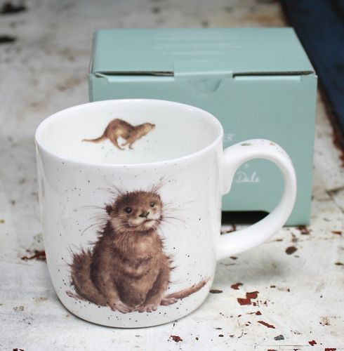 morpeth gift gallery hunter valley the river gent otter wrendale royal worcester fine bone china mug coffee tea hot chocolate .31 litre 11 oz ounce
