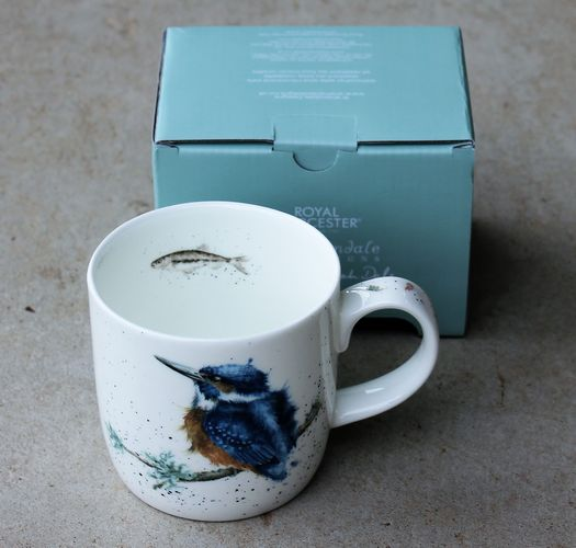 morpeth gift gallery hunter valley blue winged kingfisher king river wrendale royal worcester fine bone china mug coffee tea hot chocolate .31 litre 11 oz ounce