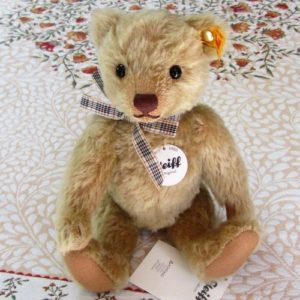 Classic Teddy with checked ribbon bow