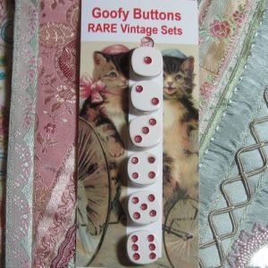Goofy Button Set – Dice Numbers