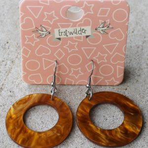 Erstwilder Earrings – Circle Caramel Swirl