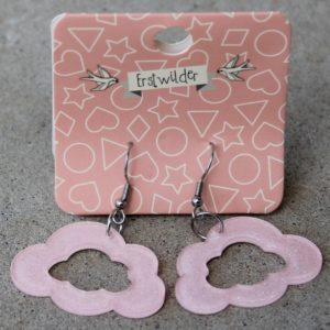 Erstwilder Earrings – Cloud Drop Pink